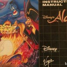 Videojuegos y Consolas: INSTRUCCIONESDISNEY'S ALADDIN SEGA - ALADIN. Lote 222695293