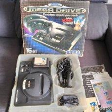 Jeux Vidéo et Consoles: CONSOLA SEGA MEGA DRIVE ~ EDICIÓN SONIC THE HEDGEHOG ~ BE!. Lote 223580688