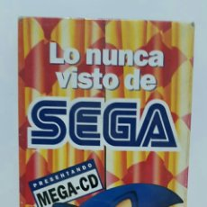 Videojuegos y Consolas: LO NUNCA VISTO DE SEGA PRESENTANDO MEGA-CD SUPER JUEGOS VHS. Lote 226879595