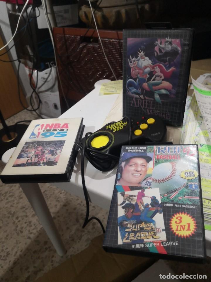 PACK3 JUEGOS + MANDO TURBO TOUCH 360 DE TRIAX PARA CONSOLA SEGA MEGA DRIVE (Juguetes - Videojuegos y Consolas - Sega - MegaDrive)