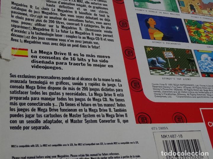Videojuegos y Consolas: SEGA MEGA DRIVE II original VERSIÓN vendida en ESPAÑA PAL mD mEGAdRIVE 2 - Foto 12 - 262487785
