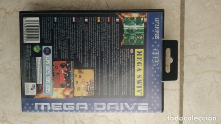 Videojuegos y Consolas: Cartucho sega mega drive mega swiv videojuego megadrive - Foto 3 - 236396085