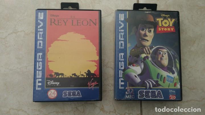 LOTE JUEGOS MEGA DRIVE REY LEÓN Y TOY STORY SEGA MEGADRIVE VIDEOJUEGOS CARTUCHOS (Juguetes - Videojuegos y Consolas - Sega - MegaDrive)