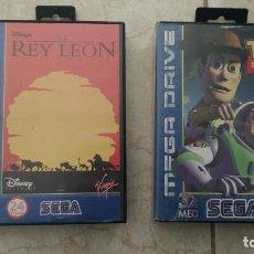Videojuegos y Consolas: LOTE JUEGOS MEGA DRIVE REY LEÓN Y TOY STORY SEGA MEGADRIVE VIDEOJUEGOS CARTUCHOS. Lote 236396445
