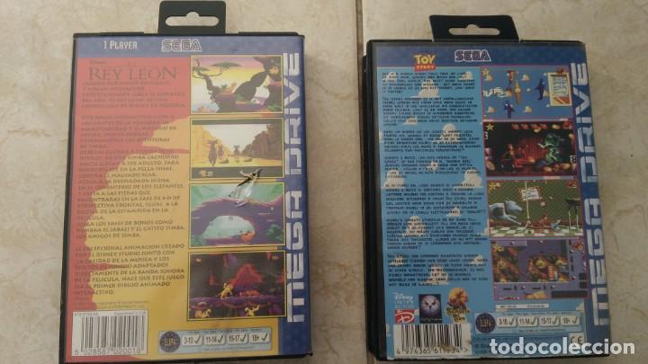 Videojuegos y Consolas: Lote juegos mega drive rey León y toy story sega megadrive videojuegos cartuchos - Foto 5 - 236396445