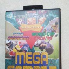 Videojuegos y Consolas: MEGA GAMES I SEGA MEGA DRIVE, SÚPER HANG ON / WORLD CUP ITALIA'90. Lote 237393775