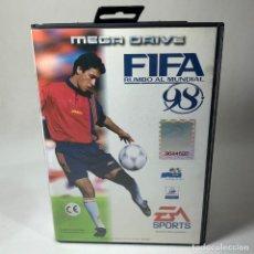 Videojuegos y Consolas: VIDEOJUEGO SEGA - MEGA DRIVE - FIFA RUMBO AL MUNDIAL 98 + CAJA. Lote 240902690