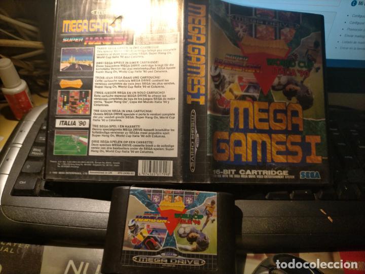 JUEGO CONSOLA, SEGA, MEGA DRIVE, MEGA GAMES I, WORLD CUP ITALIA 90, SUPER HANG ON, 1992 (Juguetes - Videojuegos y Consolas - Sega - MegaDrive)