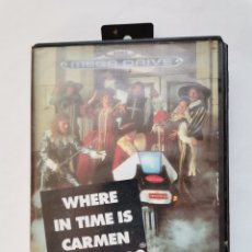 Videojogos e Consolas: WHERE IN TIME IS CARMEN SANDIEGO? SEGA MEGA DRIVE. Lote 242130585