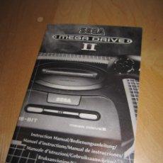 Videojuegos y Consolas: MANUAL INSTRUCCIONES CONSOLA MEGA DRIVE II 2 SEGA 1993. Lote 243073110