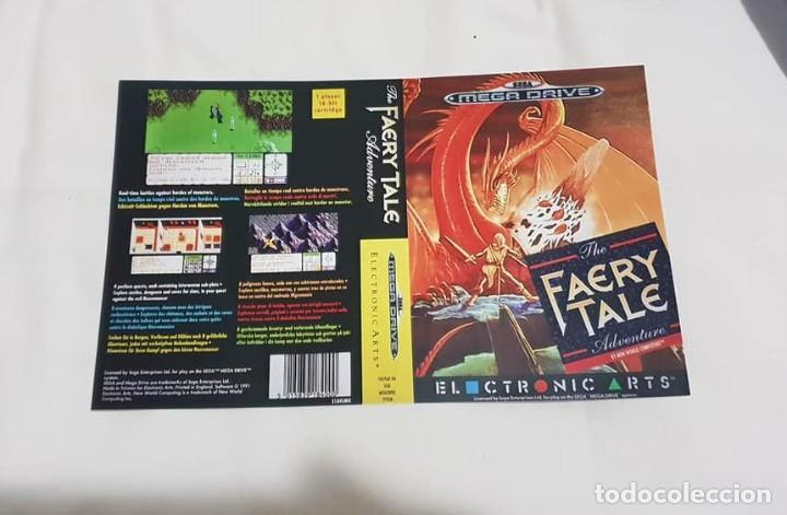 """CARÁTULA DE REEMPLAZO """"FAERY TALE"""" SEGA MEGADRIVE. (Juguetes - Videojuegos y Consolas - Sega - MegaDrive)"""