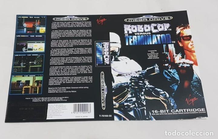 """CARÁTULA DE REEMPLAZO """"ROBOCOP VS TERMINATOR"""" SEGA MEGADRIVE (Juguetes - Videojuegos y Consolas - Sega - MegaDrive)"""