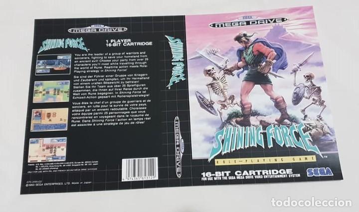"""CARÁTULA DE REEMPLAZO """"SHINING FORCE"""" SEGA MEGADRIVE (Juguetes - Videojuegos y Consolas - Sega - MegaDrive)"""