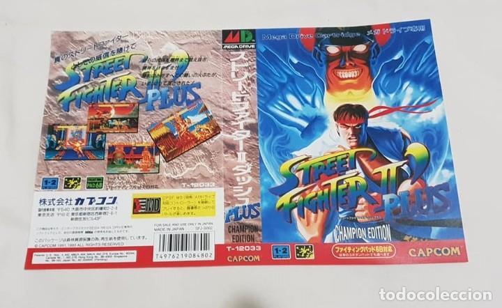 """CARÁTULA DE REEMPLAZO """"STREET FIGHTER II PLUS"""" SEGA MEGADRIVE (Juguetes - Videojuegos y Consolas - Sega - MegaDrive)"""