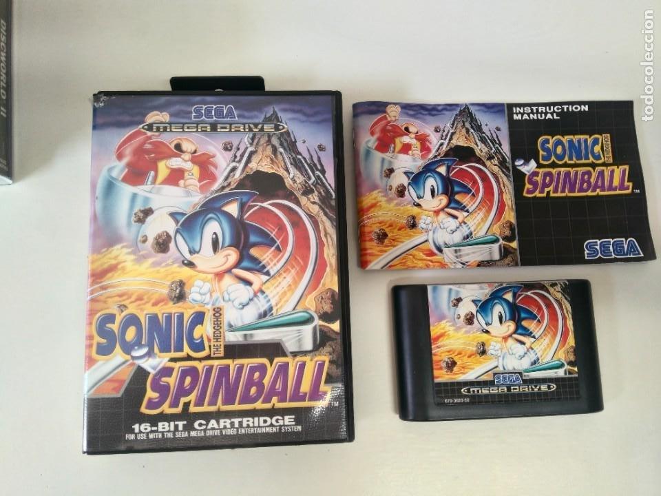 SONIC SPINBALL PARA SEGA MEGADRIVE ENTRE Y MIRE MIS OTROS JUEGOS DE OTRAS CONSOLAS RETRO. (Juguetes - Videojuegos y Consolas - Sega - MegaDrive)