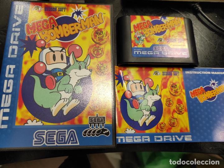 SEGA MEGA DRIVE MEGA BOMBERMAN COMPLETO (Juguetes - Videojuegos y Consolas - Sega - MegaDrive)