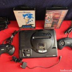 Videojuegos y Consolas: MEGA DRIVE SEGA 16 BIT - CON 2 MANDOS Y EL CARGADOR Y 2 JUEGOS TAL CUAL COMO SE VE EN FOTOS. Lote 244671995
