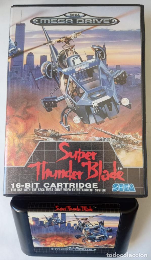 SUPER THUNDER BLADE- SEGA MEGA DRIVE SIN MANUAL, PAL ESPAÑA. 1991 (Juguetes - Videojuegos y Consolas - Sega - MegaDrive)