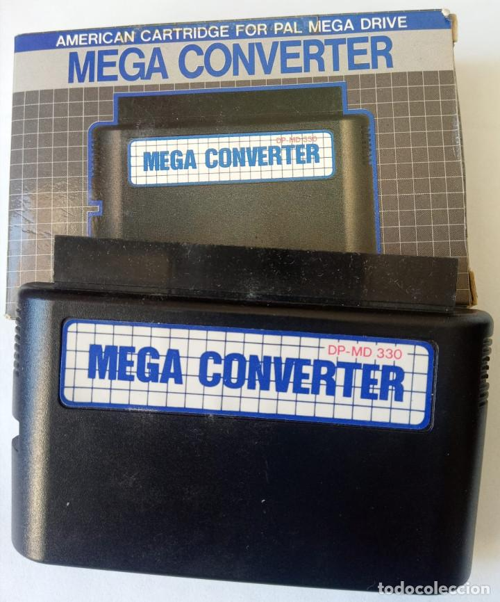 CONVERSOR AMERICAN CARTRIDGE FOR PAL MEGA DRIVE – MEGA CONVERTER ORIGINAL SEGA. (Juguetes - Videojuegos y Consolas - Sega - MegaDrive)