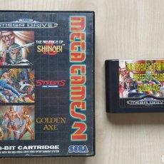 Videojuegos y Consolas: JUEGO CONSOLA SEGA MEGA DRIVE MEGA GAMES 2 PACK SHINOBI STREETS OF RAGE GOLDEN AXE MEGADRIVE. Lote 244965035