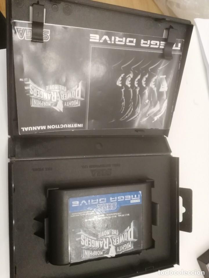 Videojuegos y Consolas: POWER RANGERS MIGHTY MORPHIN THE MOVIE MEGADRIVE - caja e instrucciones - Foto 2 - 245119265