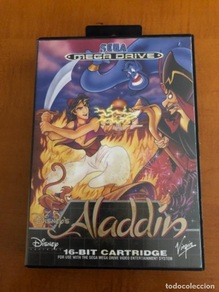 ANTIGUO MEGA DRIVE ALADDÍN DISNEY (Juguetes - Videojuegos y Consolas - Sega - MegaDrive)