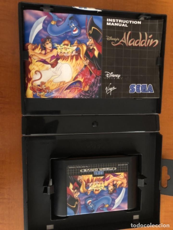 Videojuegos y Consolas: Antiguo mega Drive Aladdín Disney - Foto 2 - 245384510