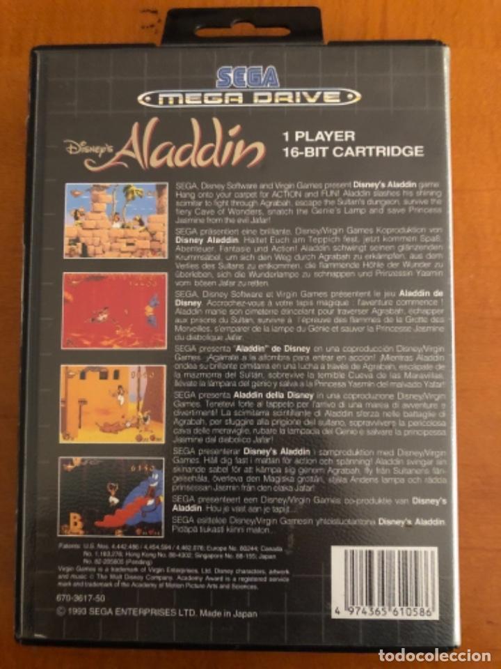 Videojuegos y Consolas: Antiguo mega Drive Aladdín Disney - Foto 3 - 245384510