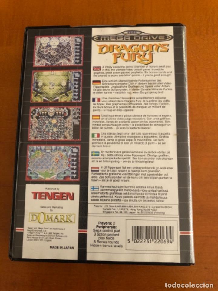 Videojuegos y Consolas: Antiguo juego Dragons Fury mega Drive - Foto 2 - 245385420