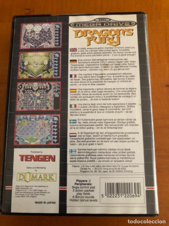 Videojuegos y Consolas: Antiguo juego Dragons Fury mega Drive - Foto 4 - 245385420