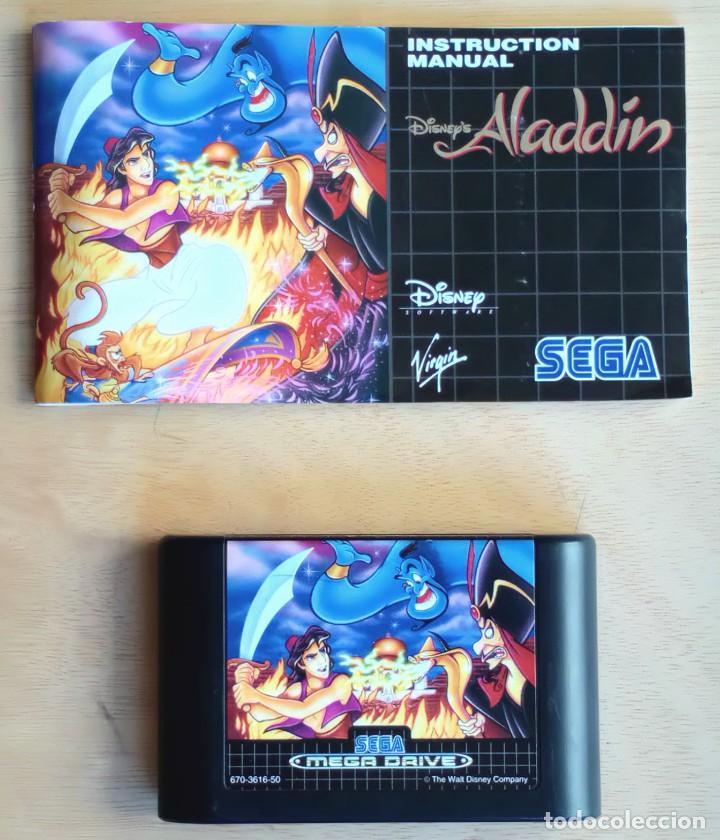 Videojuegos y Consolas: Aladdin / Juego Sega Mega Drive Megadrive / PAL / Disney Virgin 1993 - Foto 4 - 189367432