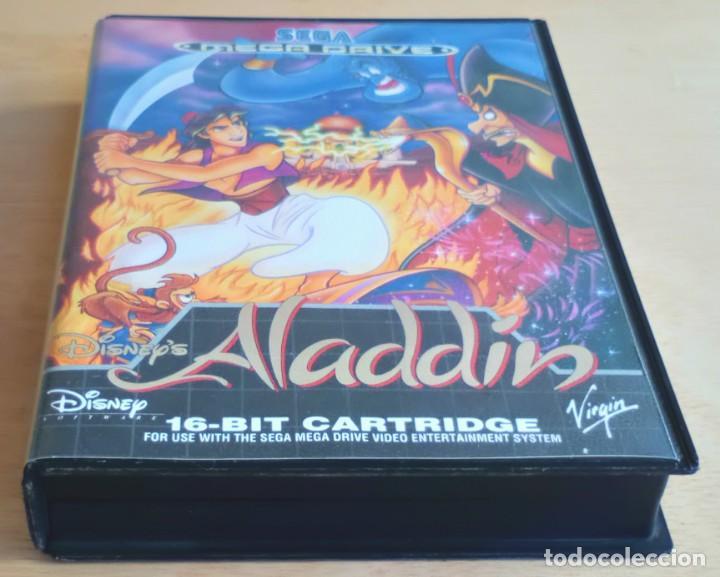 Videojuegos y Consolas: Aladdin / Juego Sega Mega Drive Megadrive / PAL / Disney Virgin 1993 - Foto 9 - 189367432