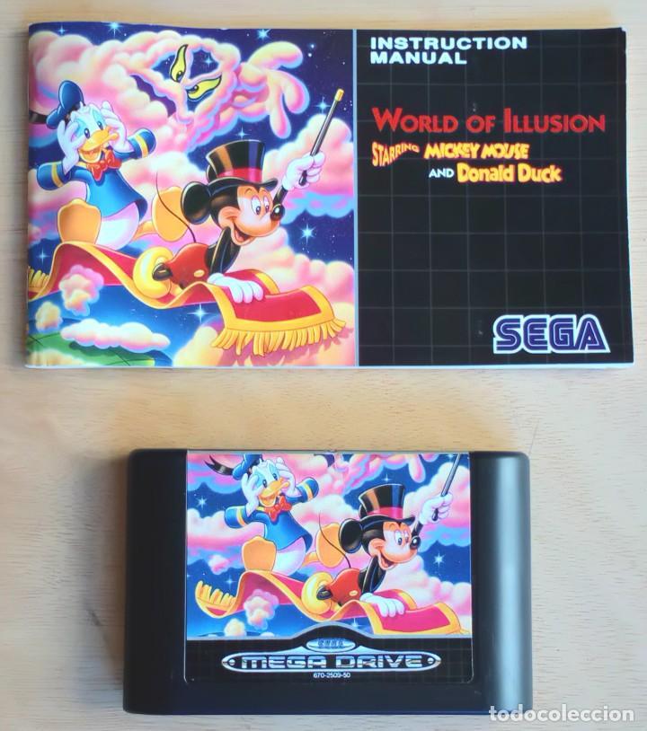 Videojuegos y Consolas: World of Illusion / Juego Sega Mega Drive Megadrive / PAL / Disney 1992 - Foto 4 - 191267036