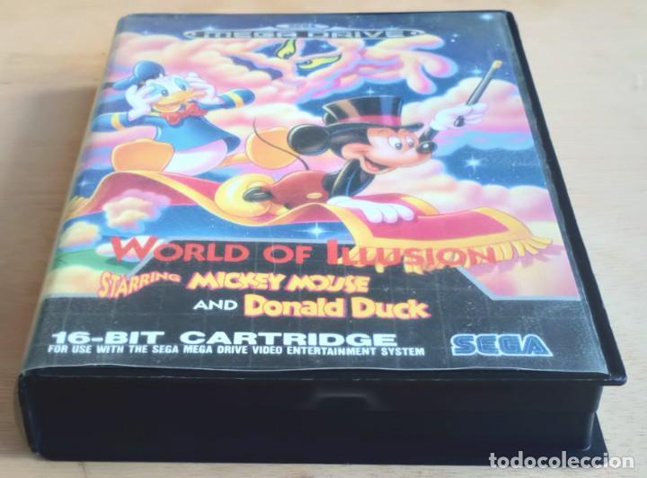 Videojuegos y Consolas: World of Illusion / Juego Sega Mega Drive Megadrive / PAL / Disney 1992 - Foto 8 - 191267036