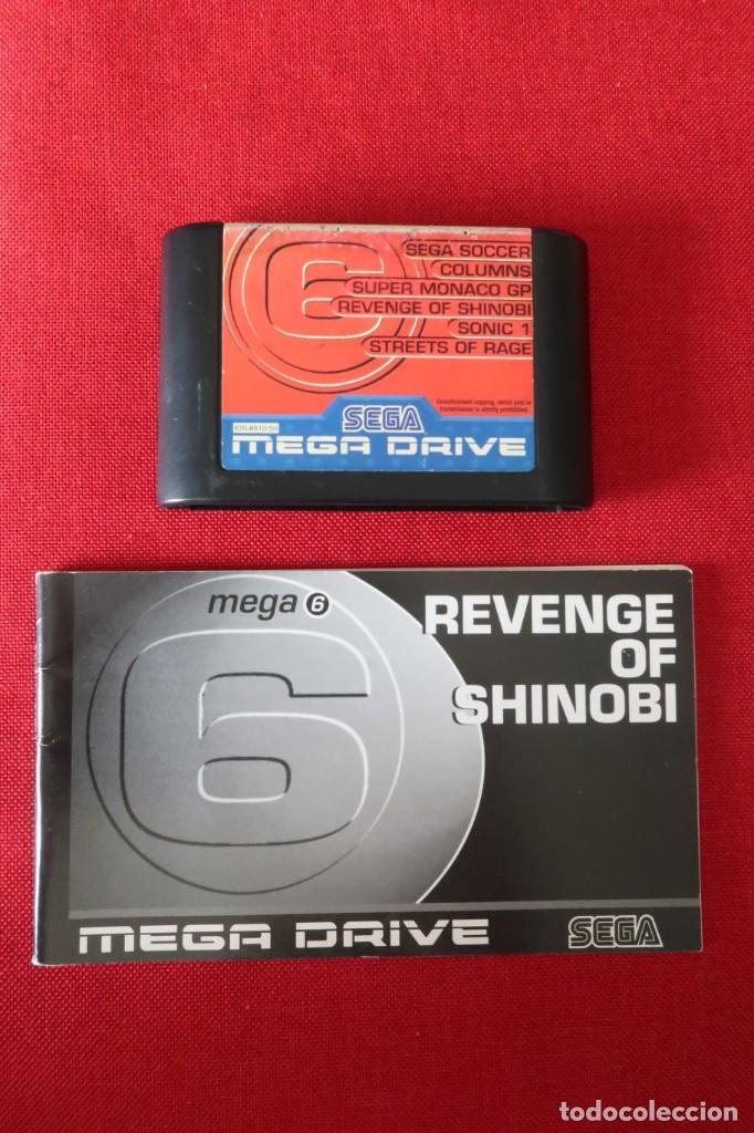 JUEGO MEGA 6 REVENGE OF SHINOBI CON INSTRUCCIONES PARA SEGA MEGADRIVE (Juguetes - Videojuegos y Consolas - Sega - MegaDrive)