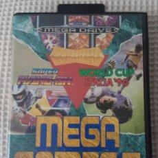 """Videojuegos y Consolas: MEGA GAMES I - SEGA MEGA DRIVE - INCLUYE LOS JUEGOS """"WORLD CUP ITALIA´90, SUPER HANG-ON Y COLUMNS"""". Lote 270354228"""