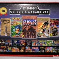 Videojuegos y Consolas: CARTUCHO 218 EN 1 PARA SEGA MEGA DRIVE MEGADRIVE PAL. Lote 261200560