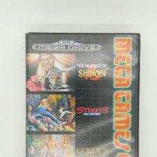Videojuegos y Consolas: JUEGO MEGA DRIVE - MEGA GAMES 2 - SHINOBI - STREETS OF RAGE - GOLDEN AXE DE SEGUNDA MANO. Lote 262287100