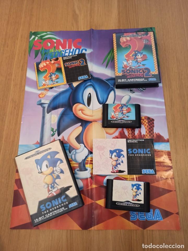 LOTE SONIC MEGA DRIVE (Juguetes - Videojuegos y Consolas - Sega - MegaDrive)