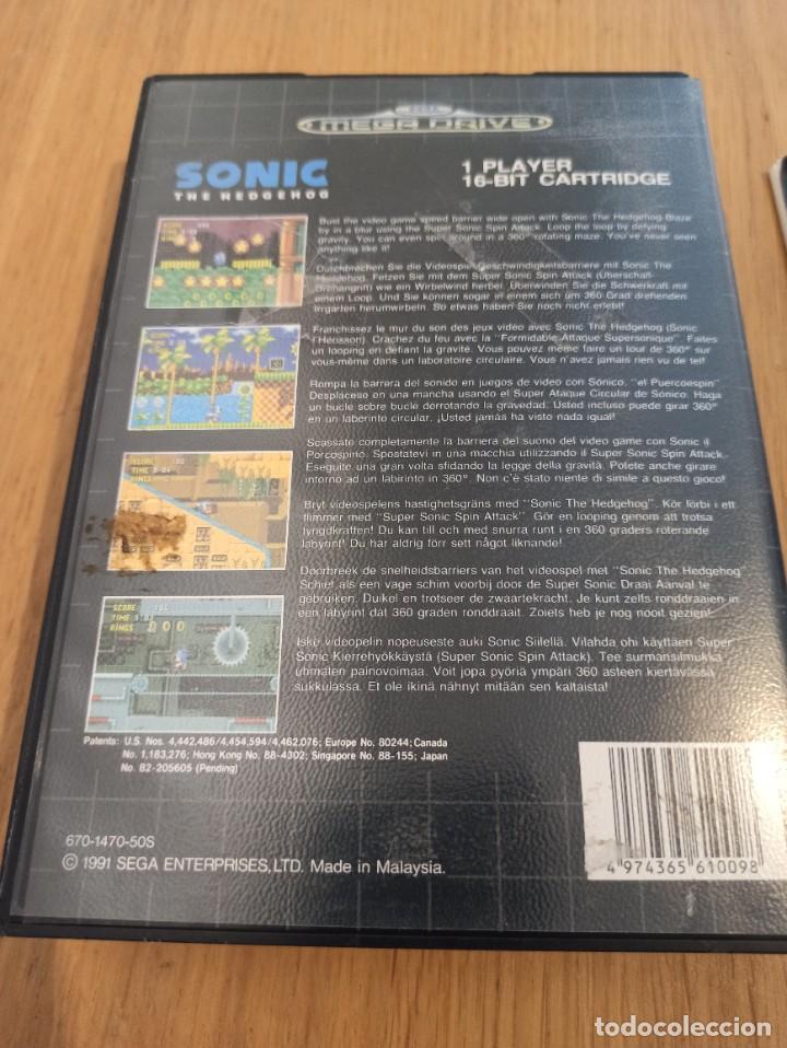 Videojuegos y Consolas: Lote Sonic Mega drive - Foto 4 - 264505904