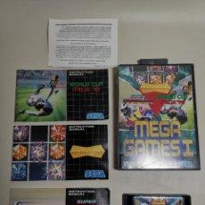 Jeux Vidéo et Consoles: MEGA DRIVE - MEGA GAMES I - 3 JUEGOS - SUPER HANG ON - WORLD CUP ITALIA90 - COLUMNS. Lote 267587084
