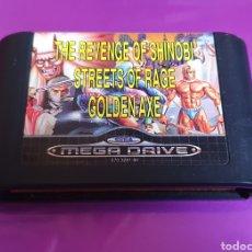 Videojuegos y Consolas: MEGA GAMES 2 THE REVENGE OF SHINOBI STREET OF RAGE GOLDEN AXE SEGA MEGADRIVE. Lote 268262569