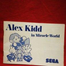 Videojuegos y Consolas: INSTRUCCIONES DE JUEGO ALEX KIDD IN MIRACLE WORLD (SEGA) MEGA DRIVE.. Lote 269196738
