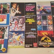 Videojuegos y Consolas: LOTE 8 MANUALES SEGA MEGADRIVE. Lote 269598738