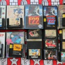 Videojuegos y Consolas: LIQUIDACION LOTE 15 JUEGOS SEGA MEGADRIVE MASTER SYSTEM EN MAL ESTADO. Lote 270245538
