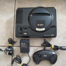 Videojuegos y Consolas: CONSOLA SEGA MEGA DRIVE MEGADRIVE VERSION PAL CON MANDO Y CABLES FUNCIONANDO OK. Lote 270251318