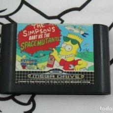 Videojuegos y Consolas: SEGA MEGADRIVE THE SIMPSONS BART VS. THE SPACE MUTANTS SOLO CARTUCHO MEGA DRIVE. Lote 270375318