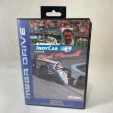 Videojuegos y Consolas: VIDEOJUEGO SEGA MEGA DRIVE - INDYCAR - INDY CAR NIGEL MANSELL + CAJA. Lote 276688963