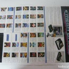 Videojuegos y Consolas: SEGA MEGADRIVE - CATÁLOGO PUBLICIDAD Y PÓSTER DE SUPER MÓNACO / RETRO VINTAGE / CONSOLA SEGA GENESIS. Lote 276722473
