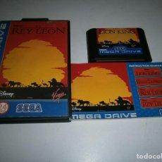 Videojuegos y Consolas: EL REY LEON MEGADRIVE PAL ESPAÑA COMPLETO. Lote 276945098